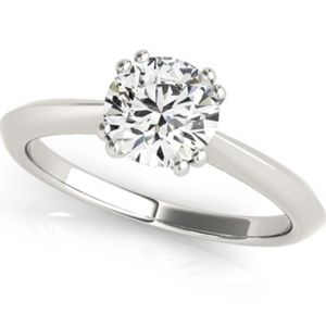 Jewelry - 14k White Gold  Solitaire Diamond 1CTW